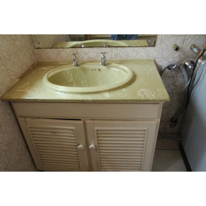 WASH BASIN WITH 2 TAPS (HOT&COLD)